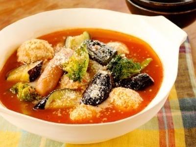 >博多なすと鶏だんごのトマト鍋。 by SHIORIさん