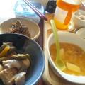 豚バラ肉とアスパラと鶉卵の煮物