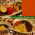 3色どんぶりと蛸とじゃがいものの温サラダ by mikumamaさん