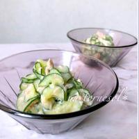 【材料3つで簡単調理‼︎】きゅうりとツナのヨーグルトみそ和え♡レシピ