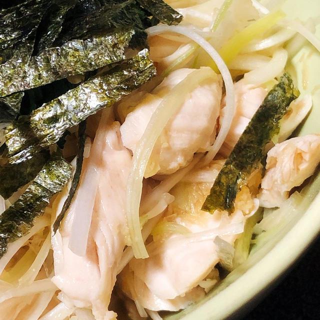 【低糖質】ササミとネギの生姜醤油和え【簡単おつまみ】