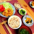 夜は鶏皮でホルモン風炒め!3人家族食費1万7千円台のごはん。