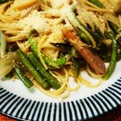 筍と、黒こしょうで美味しいスパゲッティ