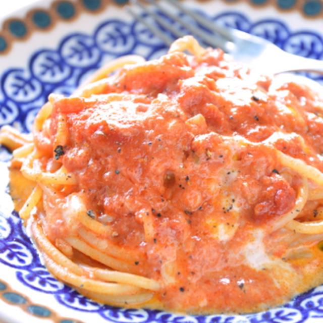 #402 八丈島のモッツァレラチーズとトマトソースのパスタ☆