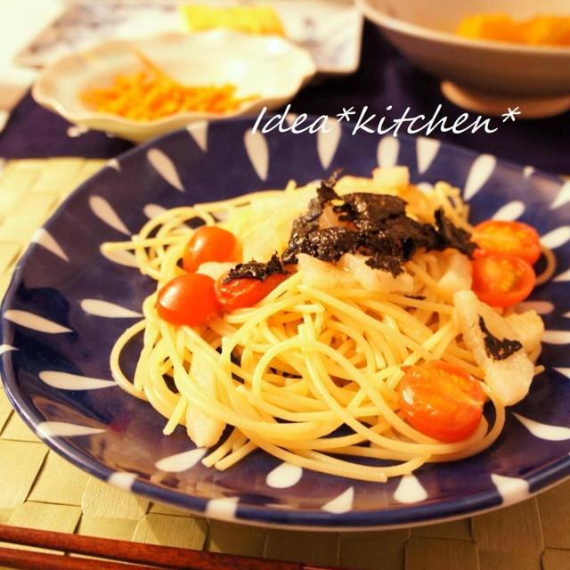 ★長芋とトマトの和風ペペロンチーノ