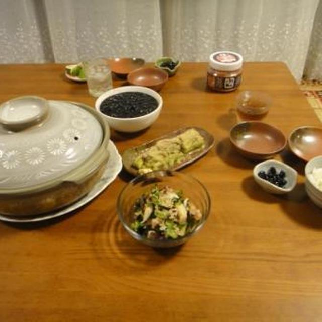 9月15日の夕飯~ **** 地味~な食卓に またまた土鍋 ****