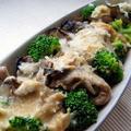 牡蠣とブロッコリーの味噌クリームグラタン