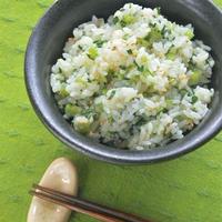 サッと混ぜて簡単!新米に合う〜やさしい香りの小松菜ごはん。