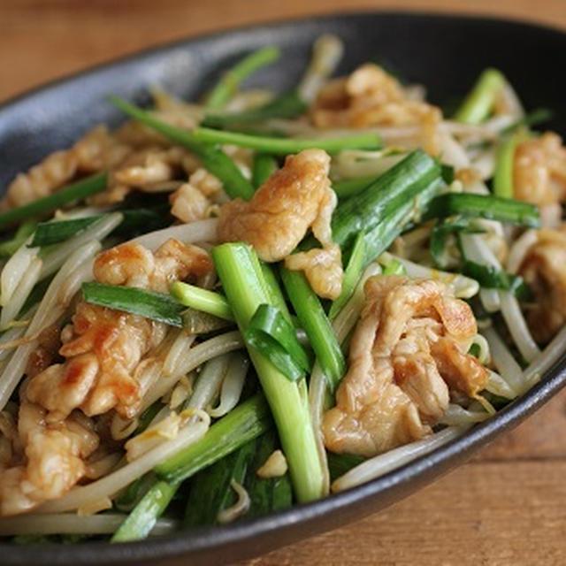 簡単♪野菜でかさ増し♪豚小間でニラレバ風炒め