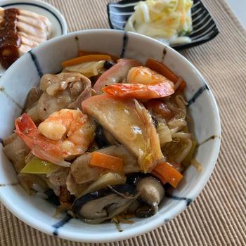 中華丼とランドセル