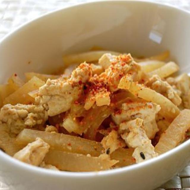 懐かしレシピ☆うちの定番、大根と豆腐の炒めたの