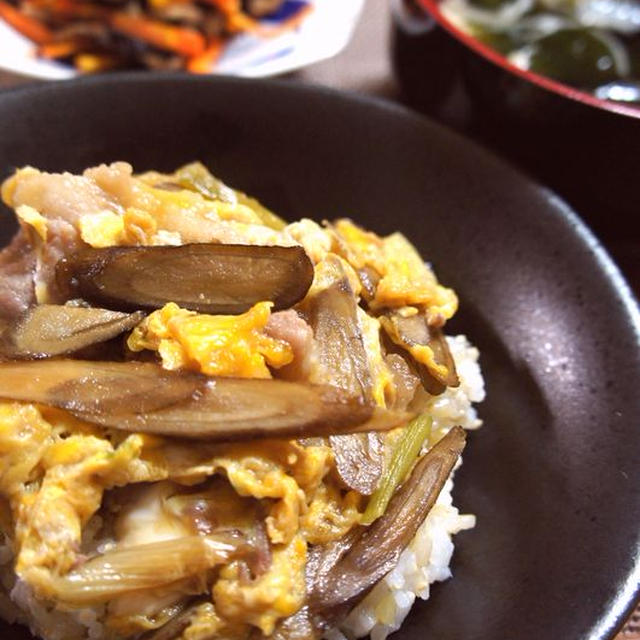 豚肉の柳川風丼&今日の娘