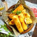 ♡揚げずに簡単♡さつまいもとクリームチーズのスイーツ春巻き♡【#時短#お菓子#レンジ#フライパン#秋】