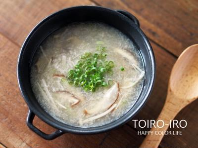 すりレンコンとキノコの中華風スープと、今日のレシピ