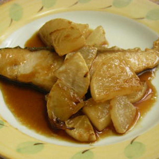魚料理:メジロと焼き大根の照り焼き