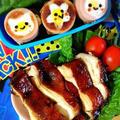 煮るだけ【照り焼きチキン】と目玉焼きinソーセージ