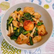 栃木県産にらを使って、にらたっぷり!にらと鶏もも肉のピリ辛スタミナ丼