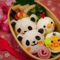 簡単に出来ちゃう♪パンダのおにぎりdeハピバ弁? by とまとママさん