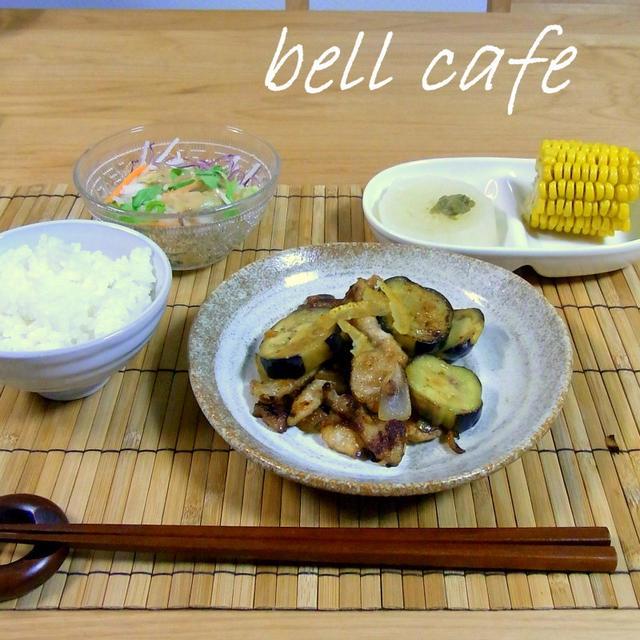 【カロリー・塩分量付き】豚肉とナスの柚子みそ炒め