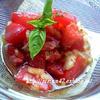 トマトの冷たいサラダ♪
