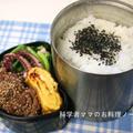 イカげその炒め物と牛肉の胡麻焼き弁当