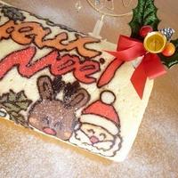 ★クリスマスはオリジナルロールケーキで!