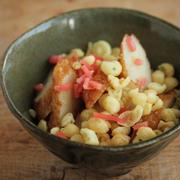 【おつまみレシピ】即席紅しょうが天とレンコン醤油マヨ七味