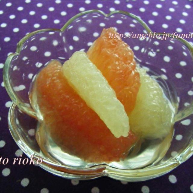 グレープフルーツ 砂糖 漬け ちょー簡単甘い♡グレープフルーツ砂糖漬け
