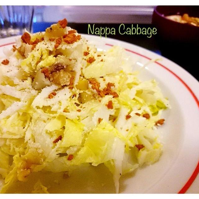 【冬のごはん】白菜&ナッツのシーザーサラダ