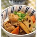 手羽元と根菜のさっぱり煮*和食ごはん