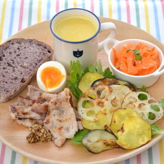 簡単野菜料理のランチプレート