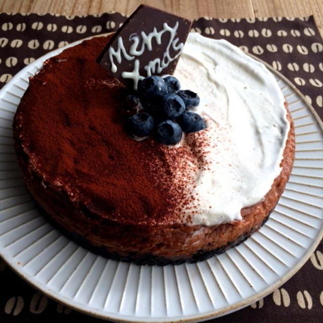 【簡単!!】クリスマスに*濃厚チョコレートオレオチーズケーキ