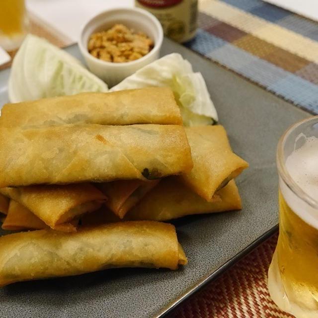 ★ ビールが旨い!豚春菊揚げ春巻き&アボカドカルパッチョ