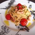 パンチェッタとプチトマトのパスタ