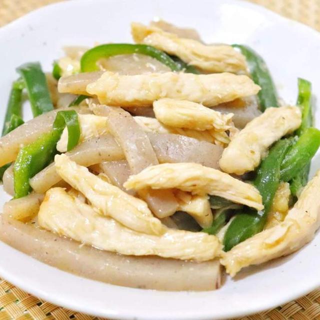 鶏胸肉とこんにゃくの青椒肉絲風 レシピ・作り方