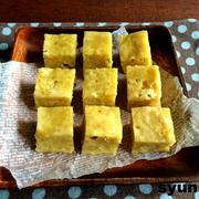 【レンジで3分】バター不使用!ホットケーキミックスで*冷めてもしっとりさつまいも蒸しケーキ