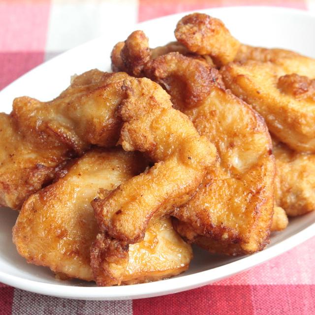 人気の節約!鶏むね肉のジューシー唐揚げのフライパンレシピ。下味10分で簡単!柔らかくする3つのコツ