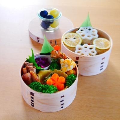 五目いなりを意識したまんまる寿司の旦那くん弁当*四日市トンテキレシピ*人参の飾り切りのこと