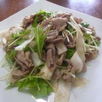 豚肉の大根と水菜の梅肉ポン酢和え♪