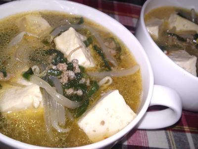 【レシピ】スンドゥブ風ピリ辛スープ(^^♪