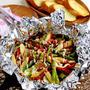 【アウトドアにも】夏野菜のホイル焼き ガーリックトースト添え by JUNA(神田智美)