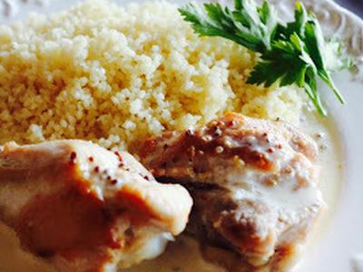 >鶏のマスタードクリームソース クスクス添え by MIOさん