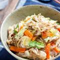 豚肉と残り野菜のスタミナ丼【#簡単 #節約 #時短 #やみつき #冷蔵庫のお掃除 #ランチ #丼】