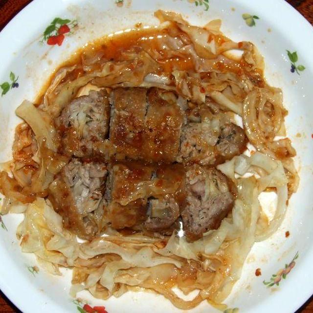 キャベツの豚肉巻き&ピリ辛きゅうり炒め