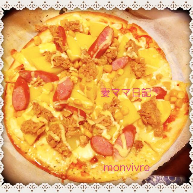 簡単・ガーリック風味の「ポテトピッザ」♪