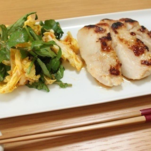 ■塩麹・・・で晩ごはん。  鶏肉を焼いてみたよ。