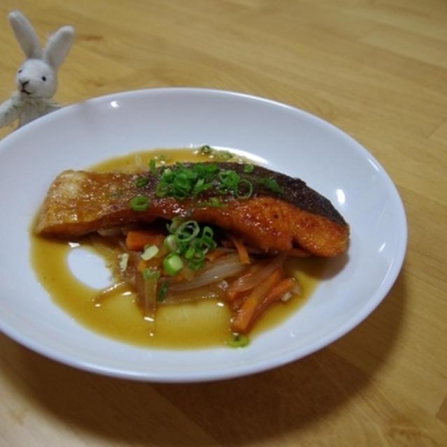 鮭のポン酢甘酢煮☆