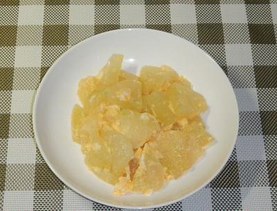 冬瓜と卵の炒め