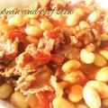 """牛肉と""""炊飯器で炊いた大豆の水煮""""のトマト煮込み《おうちで簡単に作れる 乾物イタリアンレシピ》"""