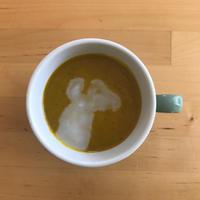 【レシピブログ】かぼちゃのスープ ココナツしょうが風味 × 山梨の白